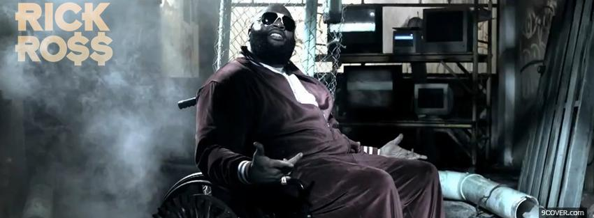 Photo music rick ross sitting Facebook Cover for Free