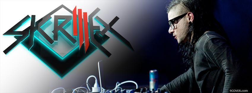 Photo skrillex playing music Facebook Cover for Free