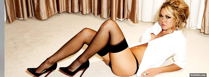 Photo adele silva with stockings Facebook Cover for Free