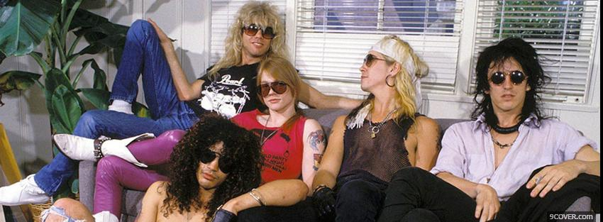 Photo guns n roses chilling together Facebook Cover for Free
