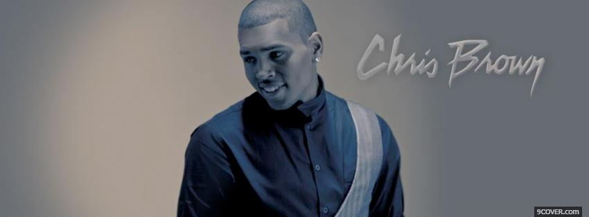 Photo chris brown looking away music Facebook Cover for Free
