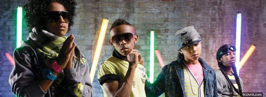 Photo mindless behavior group music Facebook Cover for Free