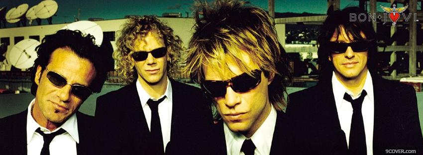 Photo wearing suits bon jovi music Facebook Cover for Free