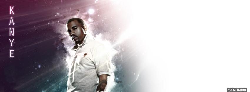 Photo kanye west in space Facebook Cover for Free
