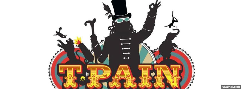 Photo drawed t pain music Facebook Cover for Free