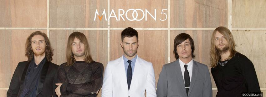 Photo maroon 5 in suits Facebook Cover for Free