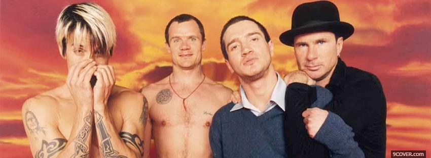 Photo music red hot chilli peppers Facebook Cover for Free