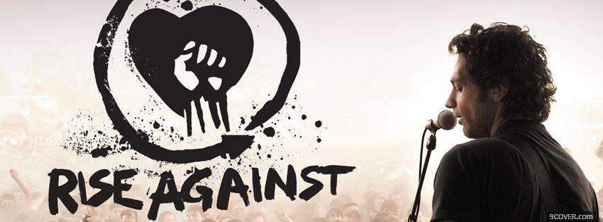 Photo music rise against Facebook Cover for Free