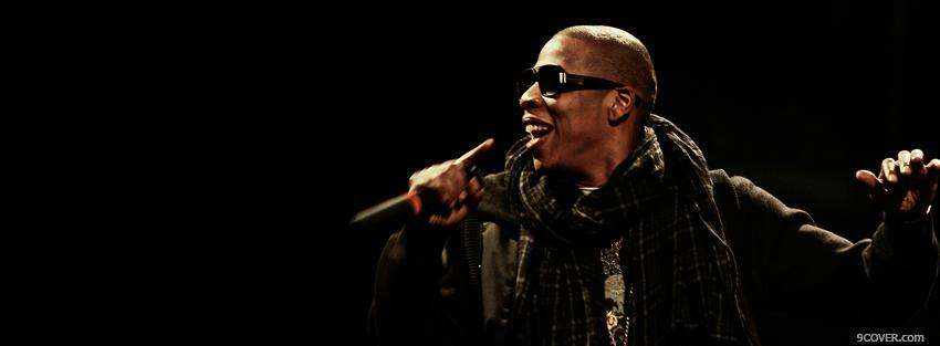 Photo jay z rapping music Facebook Cover for Free