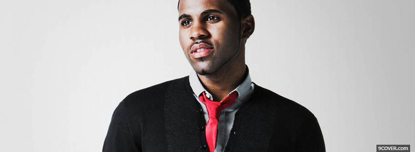 Photo jason derulo with tie Facebook Cover for Free
