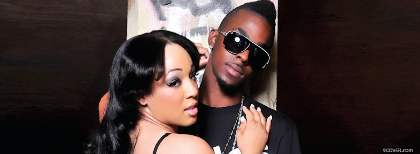 Photo roscoe dash with woman music Facebook Cover for Free