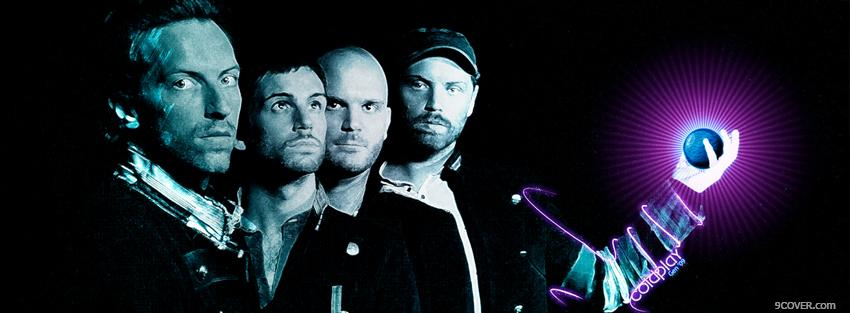 Photo coldplay holding the world Facebook Cover for Free