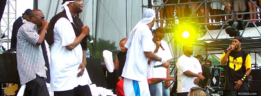 Photo wu tang clan singing music Facebook Cover for Free