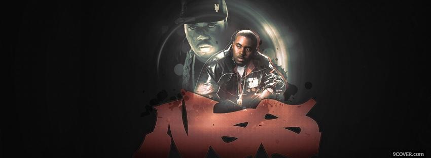 Photo music rapper nas Facebook Cover for Free