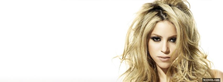 Photo shakira with messy hair Facebook Cover for Free