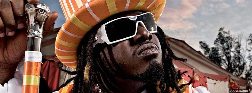 Photo t pain with crazy hat Facebook Cover for Free