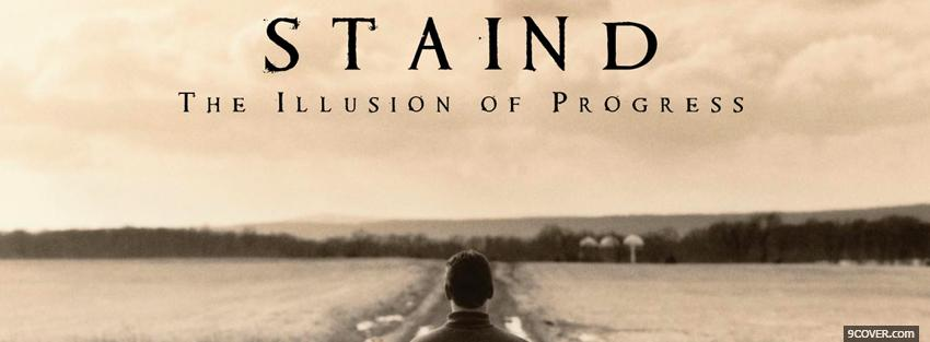 Photo staind the illusion of progress Facebook Cover for Free