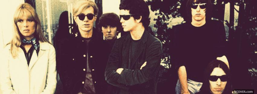 Photo velvet underground with sunglasses Facebook Cover for Free