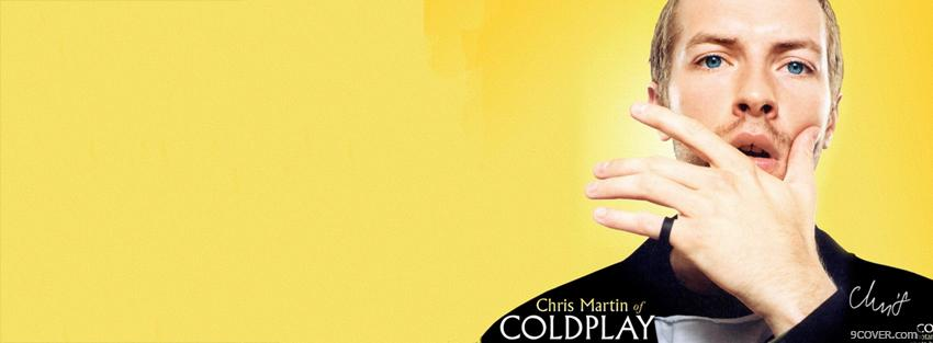 Photo chris martin of cold play Facebook Cover for Free