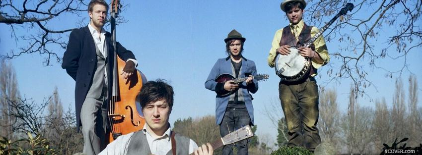 Photo mumford and sons band music Facebook Cover for Free