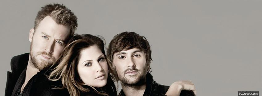 Photo music lady antebellum members Facebook Cover for Free