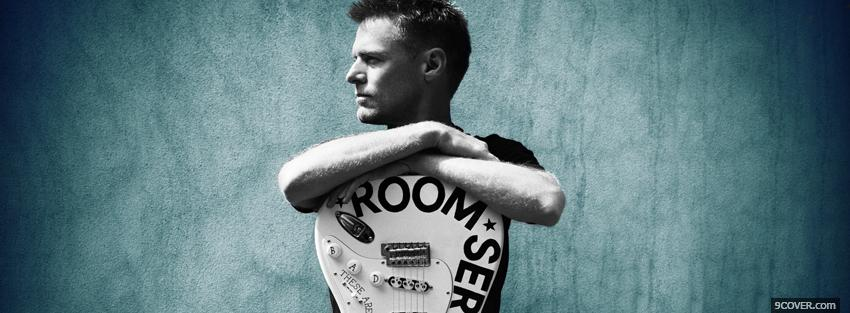 Photo bryan adams with guitar Facebook Cover for Free