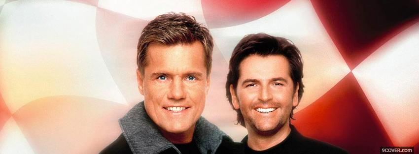 Photo modern talking smiling music Facebook Cover for Free