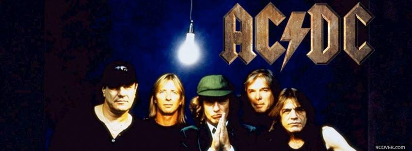 Photo the band acdc with light bulb Facebook Cover for Free