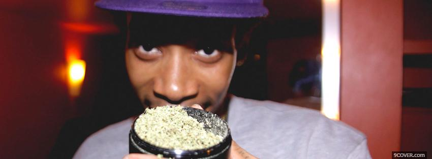 Photo wiz khalifa with weed Facebook Cover for Free