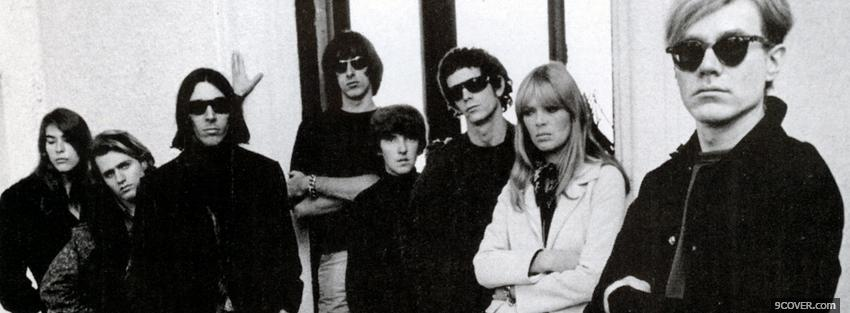 Photo group velvet underground standing Facebook Cover for Free