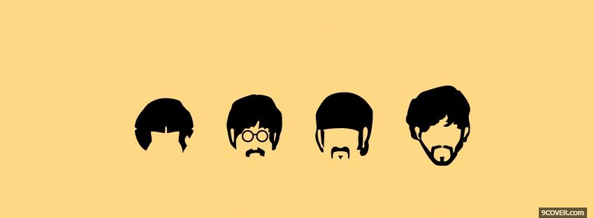 Photo drawed beatles music Facebook Cover for Free