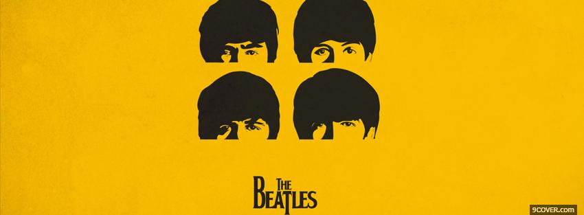 Photo faces of the beatles Facebook Cover for Free