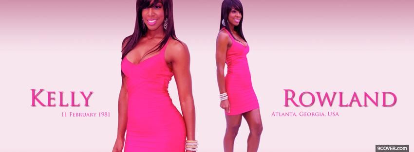 Photo pink kelly rowland music Facebook Cover for Free