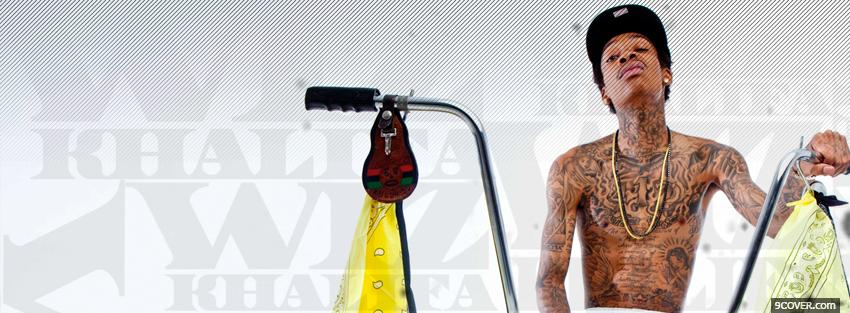 Photo wiz khalifa with bike music Facebook Cover for Free