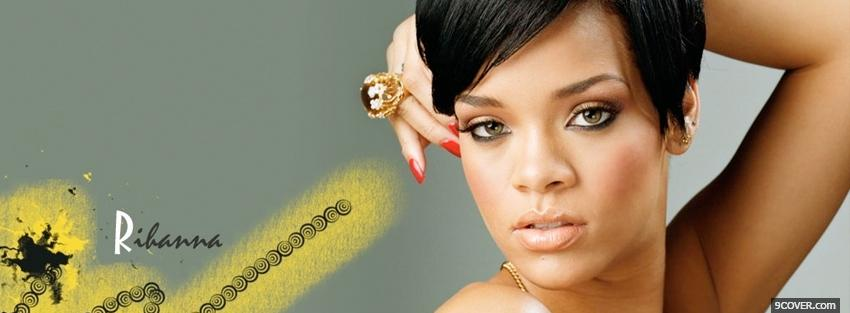 Photo short hair rihanna music Facebook Cover for Free
