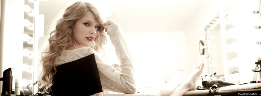 Photo taylor swift sitting music Facebook Cover for Free
