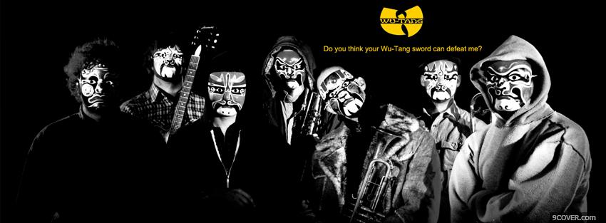 Photo black and white wu tang clan Facebook Cover for Free