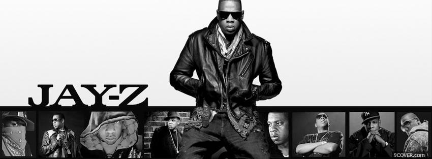 Photo jay z rapper black and white Facebook Cover for Free