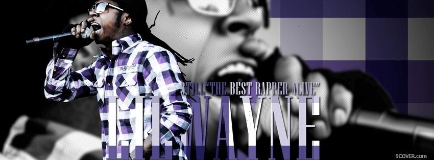 Photo lil wayne best rapper alive music Facebook Cover for Free