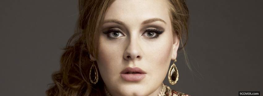 Photo face of singer adele Facebook Cover for Free