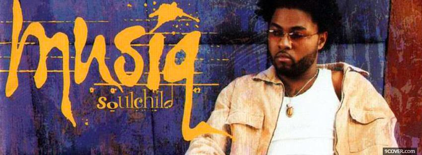 Photo musiq soulchild sitting music Facebook Cover for Free