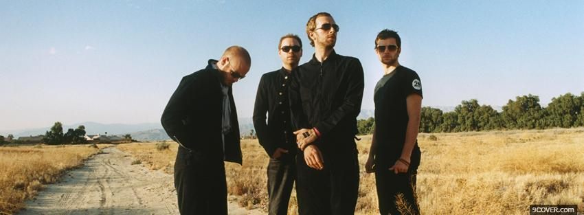 Photo coldplay with sunglasses Facebook Cover for Free
