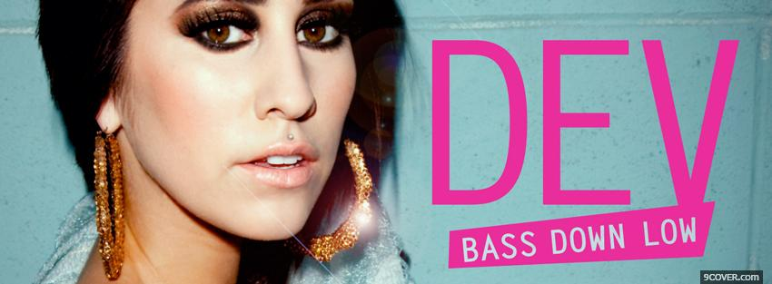 Photo dev bass down low Facebook Cover for Free