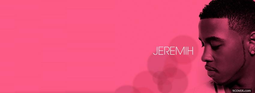 Photo jeremih pink backround music Facebook Cover for Free