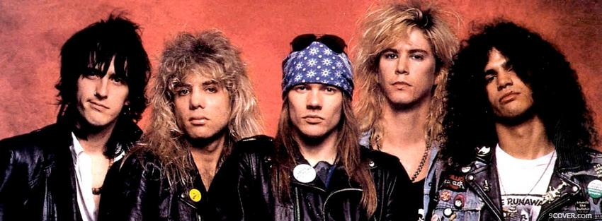 Photo music band guns n roses Facebook Cover for Free