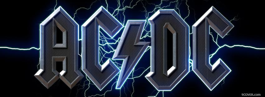 Photo acdc with lightning Facebook Cover for Free
