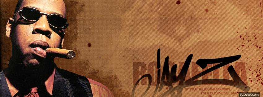 Photo jay z with cigar music Facebook Cover for Free