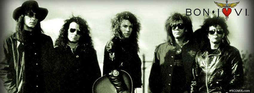 Photo bon jovi outside and serious Facebook Cover for Free