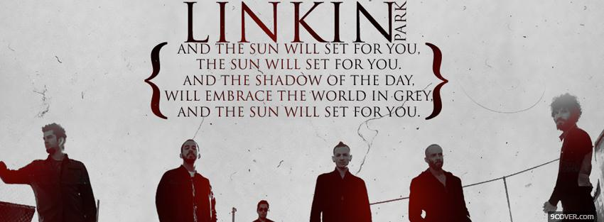 Photo linkin park music quote Facebook Cover for Free