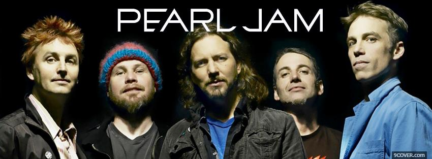 Photo music pearl jam Facebook Cover for Free